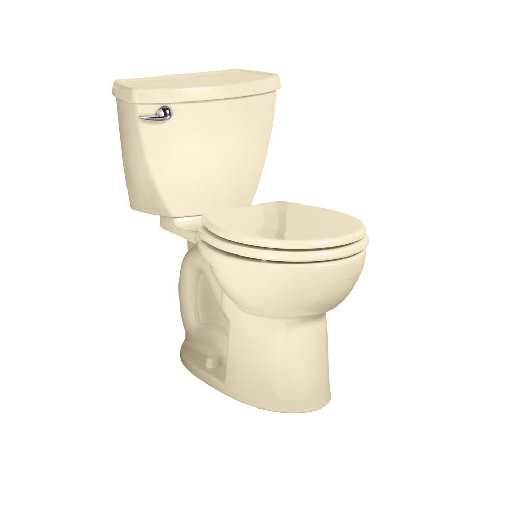 American Standard Cadet 3 Round Front Flowise Two-Piece High Efficiency Toilet with 10-Inch Rough-In, Bone Bone