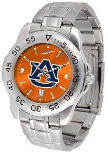 Auburn Tigers Sport Watch (Auburn Tigers Stainless Steel Men's Sport Watch)