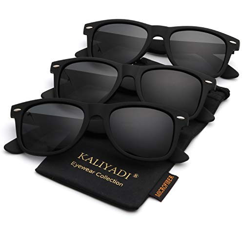 Polarized Sunglasses for Men and Women Matte Finish Sun glasses Color Mirror Lens 100% UV ()