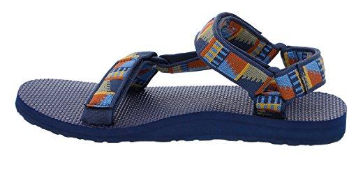 Teva Original Universal M's, Sandalias de Punta Descubierta para Hombre Azul (Peaks Navy)