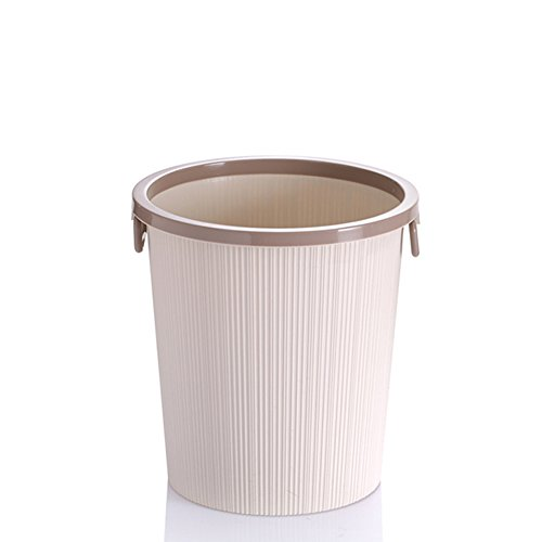 Round Plastic Trash Can kitchen Trash Can Plastic Wastebasket Paper Basket (1.3(us - Gallons Us 1.3