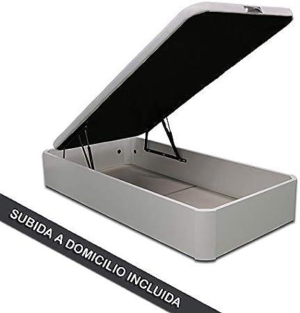 Ventadecolchones - Canapé Abatible de Madera - Gran Capacidad Madera Blanca Medidas 90 x 190 cm con Subida a Domicilio incluida