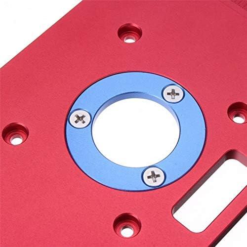 RTO700C Aluminium Router Tabelle Insert Plate 235 X 120 X 8 Mm(9.3x4.7x 0.3) F/ür Die Holzbearbeitung B/änke F/ür beliebte Trimmer- Trimmfr/äser-Graviermaschinen