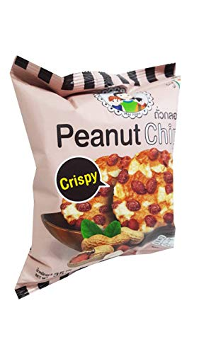 3 packs of Peanut Chips, Crispy Peanut and wild yam by Mae Napa, Healthy and Delicious Snack. Premium quality snack from Thailand.(35 g/pack).