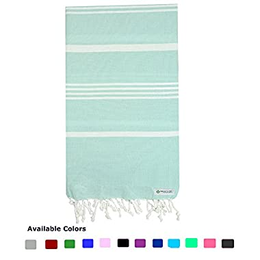 Turkish Peshtemal Towels Pestemal Towel Thin Travel Camping Bath Sauna Beach Gym Pool Blanket Fouta Towels 100%Cotton Mint