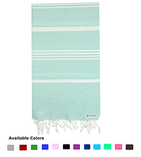 Nature Is Gift Turkish Peshtemal Towels Pestemal Towel Thin Travel Camping Bath Sauna Beach Gym Pool Blanket Fouta Towels 100% Cotton (Cotton Travel Blankets)