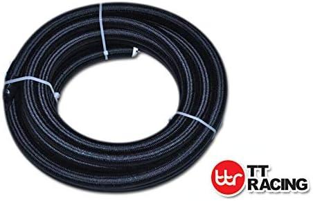 6 AN6 PTFE Swivel Fittings /& Black Nylon Fuel Line Hose Kit E85 12ft NLPTFEAN6/_KIT/_XIAO