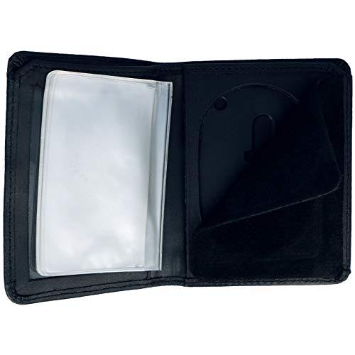 Oval Holder Badge (Genuine Leather Unisex Law Enforcement Badge Holder Wallet Case - Oval)