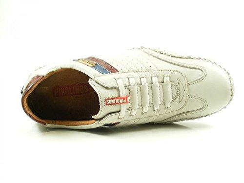Pikolinos 15A-6092 Fuencarral Zapatos Mocasines de cuero para hombre Weiß