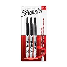 Sharpie RETRACTABLE Marker Permanent, Permanent Marker Ultra Fine, 3-Carded, Black Ink (1735793)