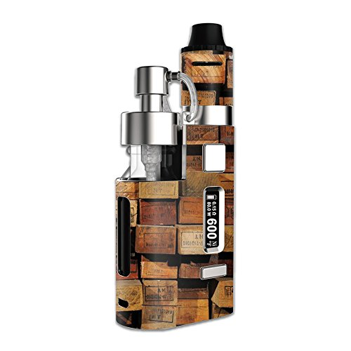 Skin For Kanger DRIP EZ – Stacked Wood | MightySkins Protective, Durable, and Unique Vinyl Decal wrap cover | Easy To Apply, Remove, and Change Styles | Made in the (Usa Brown Drip)