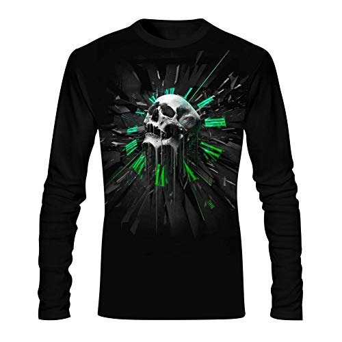 Dead Head Skulls Men's Tees 3D Pattern Printed Casual Long Sleeve T Shirt Comfortable Tee Shirt -