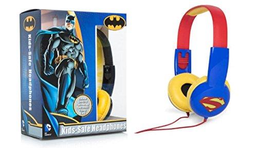 Batman Costume Homemade (Kids Toys Batman & Superman Kids Safe Headphones Headsets Over the Ear)