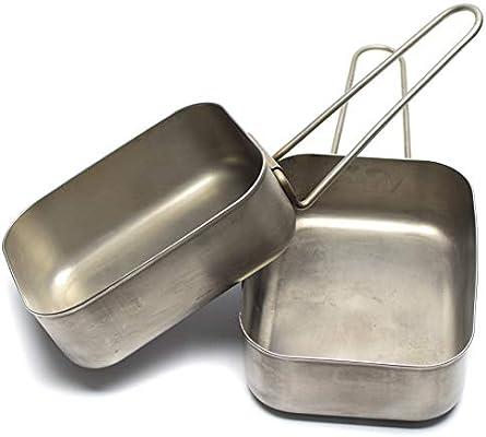 Amazon.com: Juego original de dos piezas de latas de acero ...