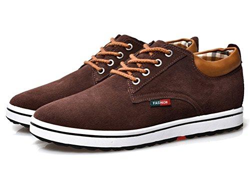 Ailishabroy Ascensor Oscuro Altura Hombres Zapatos Lace Aumentar Zapatillas Casual Hombre Marron Up rPgw6rE