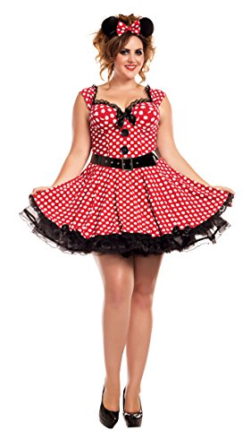 Missy Mouse Adult Costume - Plus Size 2X - Plus Size Minnie Mouse Costumes