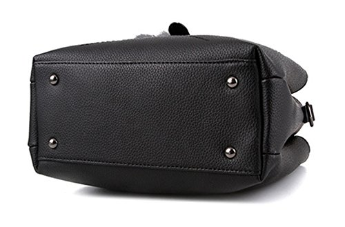 Keshi Pu neuer Stil Damen Handtaschen, Hobo-Bags, Schultertaschen, Beutel, Beuteltaschen, Trend-Bags, Velours, Veloursleder, Wildleder, Tasche Pink