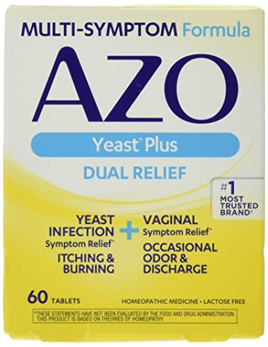 AZO Yeast Plus Tablets 60 ea (Pack of 2)