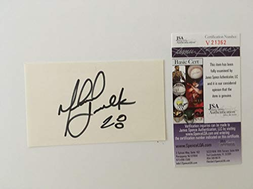 - Marshall Faulk Autographed Signed Autograph 3X5 Card JSA Authentic Certified Vintage College Sig