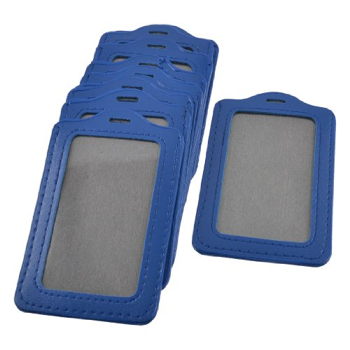 UPC 700955343084, uxcell Faux Leather School Factory Vertical Name Tag ID Badge Card Holders 10 Pcs Blue