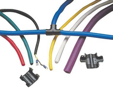 Taylor Cable 38761 Blue Convoluted Tubing
