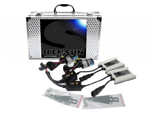 Kensun HID Xenon 55 Watt Conversion Kit With Slim Digital Ballasts for 9006 (HB4) - 4300K