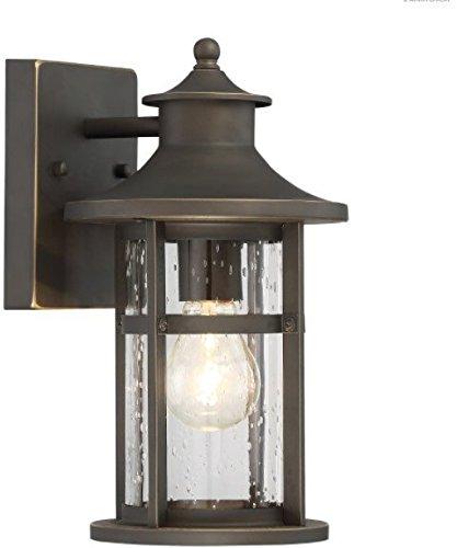 Minka Lavery Outdoor Wall Light 72551-143C Highland Ridge Exterior Wall Lantern, 1-Light 60 Watts, Oil Rubbed Bronze