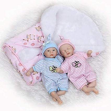 "Full Vinyl Reborn Baby Doll 10/"" Handmade Newborn Girl Preemie Tiny Alive Doll"