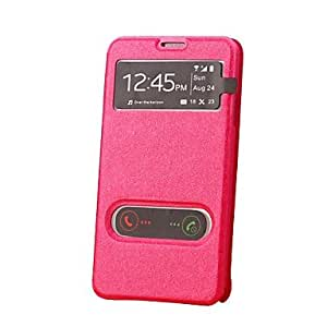 Buy Double Windows Open Full Body Case with Stand for Samsung Galaxy Note 3 N9000 (Assorted Colors) , Black