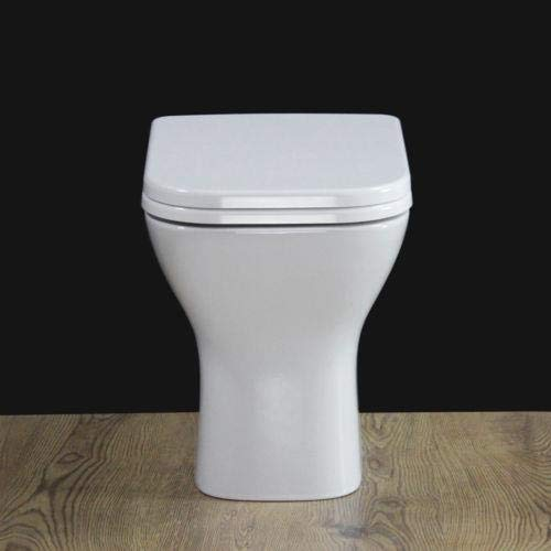 KLARA Toilet WC Back To Wall Compact Square Bathroom Heavy Duty Soft Closing Seat 460MM H