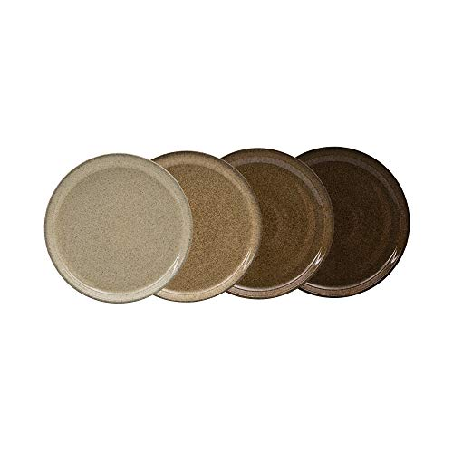 Denby CRFT-004B/4 Studio Craft 4 Piece Medium Coupe Salad Plate Set, One size, brown; earthy