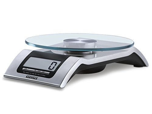 Soehnle 65105, Style Digital Kitchen Scale, Silver