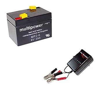 Cargador + Batería de GEL Original Multi Power MP2 - 6 - Batería ...