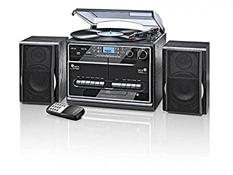 Minicadena DAB + con tocadiscos radio láser CD USB SD MMC ...