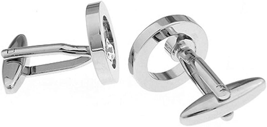 Pierre de cristal Swarovski au look de diamant moderne Boutons de manchette pour hommes par CUFFLINKS DIRECT