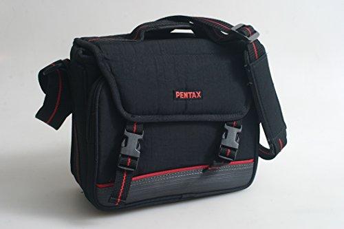 PENTAX CASE W/ STRAP BLACK & RED