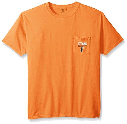 NCAA Cal State Fullerton Titans Baseball Frame Short Sleeve Pocket T-Shirt, - Shirt Titan Pocket