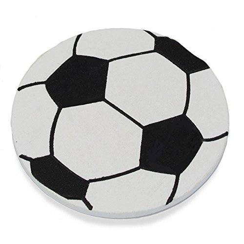 BestPysanky Wooden Hand Painted Soccer Ball Cut Out 3.25 Inches
