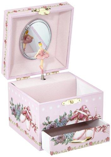 """Musicbox Kingdom 28055Caja musical y joyero, bailarina y melodía de Vals de las flores"""""""