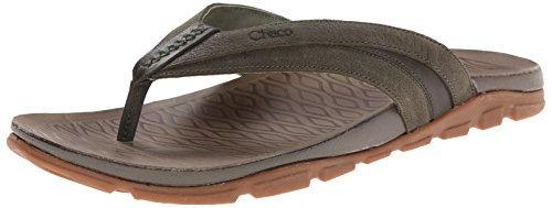 Chaco Leather Flops Flip (Chaco Men's Cabrera Flip Sandal, Grape Leaf, 9 M US)
