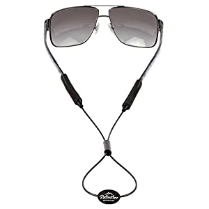 Rec-Strapz Sunglasses / Eyewear Retainer System for Active Lifestyles - Made in USA - Patent Pending Design – Universal fit for any Eye Glasses / Sunglasses - Black Adjustable
