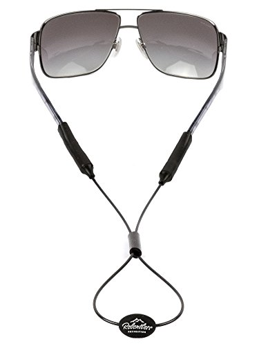 Rec-Strapz Sunglasses / Eyewear Retainer System for Active Lifestyles - Made in USA - Patent Pending Design – Universal fit for any Eye Glasses / Sunglasses - Black - Repair Cheap Glasses