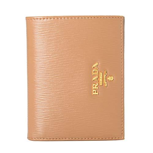 Prada 100% Leather Brown Women's Bifold Wallet
