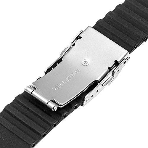 TRUMiRR 22mm Silicone Rubber Watch Band Strap for Samsung ...