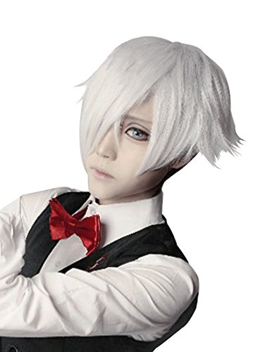 Brush With Death Costume (Anogol® Free Hair Cap+ Death Parade Decim Cosplay Wig Short Layered Wigs DM-438)