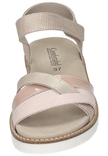 Comfortabel 42 sandale Damen Rosa Rosé 710826 rwSrIUq