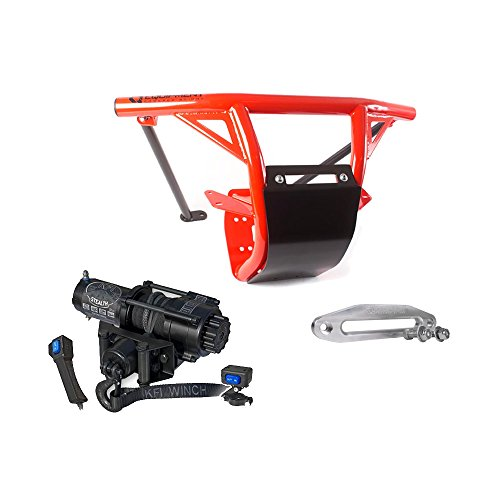 er Can-Am Maverick X3 2017 2018 Can-Am Red | 9166012676 & KFI Winch SE35 (Hd Front Winch Bumper)