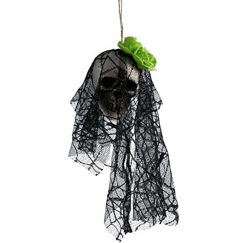 2 Pack, DIY Artificial Foam Skull Bride Clothes Halloween Decor Bone Head Hanging Home Decorations Festival Party Supplies -