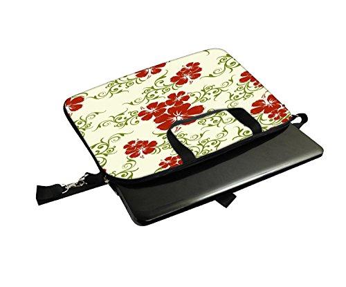 Snoogg orange und blau rangolies Laptop Netbook Computer Tablet PC Schulter Case mit Sleeve Tasche Halter für Apple iPad/HP TouchPad Mini 210/Acer Aspire One und die meisten 24,6cm 25,4cm 25,7cm 25
