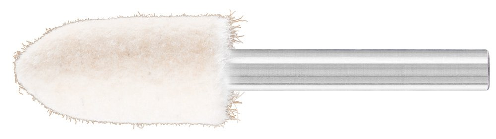 PFERD 48575 Conical Felt Point, Shape SPK, 9/16'' Diameter x 1-1/4'' Length, 1/4'' Shank Diameter x 1-5/8'' Shank Length, 31500 Max RPM (Pack of 10)